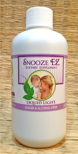 Snooze EZ (8 oz Bottle) - Insomnia, Anxiety, Sleep Support, Pregnancy & Child Safe Too. Used Safely and Effectively for Nearly 20 Years. Midwife Approved.