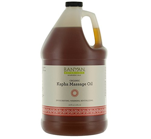 Best Prices! Banyan Botanicals Kapha Massage Oil - Certified Organic, 128 oz - Invigorating, Warming...