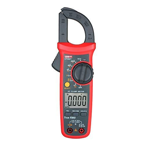 Fesjoy UT202 + 4000 Zählt Digitalzangen-Messgerät True RMS Multimeter Zangen-Amperemeter Spannungsmessgerät NCV-Test Universalzangen-Messgerät AC-Stromzangen-Messgerät -40~1000 ℃ Temperaturmessung