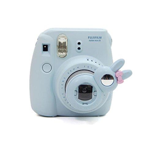 CAIUL Rabbit Style Instax Mini Close Up Lens Selfie Lens for Fujifilm Instax Mini 8 8+ 9 7s Camera and Polaroid PIC-300 (Blue)