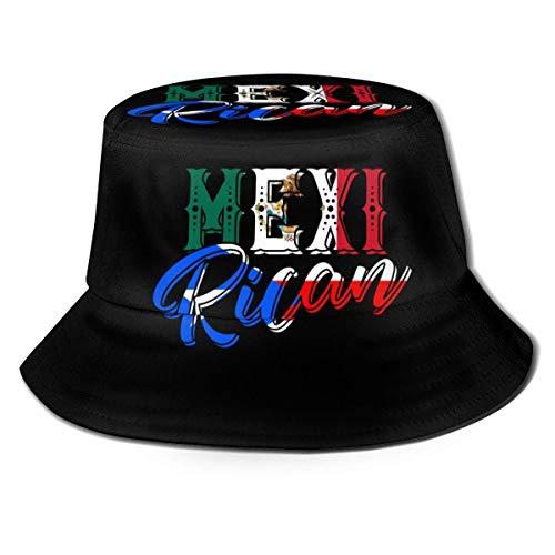 N \ A México Puerto Rico Bandera Pesca Viaje Cubo Sombrero Pescador Sombrero Sol Disfraz Adulto Señoras Hombres Niñas Playa Fiesta Regalos