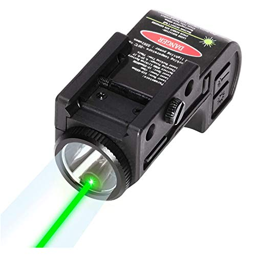 IRON JIA#039S Green Tactical Pistol Laser Sight CLL105 New 2in1Compact Rechargeable Internal Laser Flashlight Combo Used for Most of Handguns and Rifles in Picatinny Rails