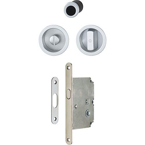 HOPPE 3948032 Uñero para puerta corredera, cromo satinado