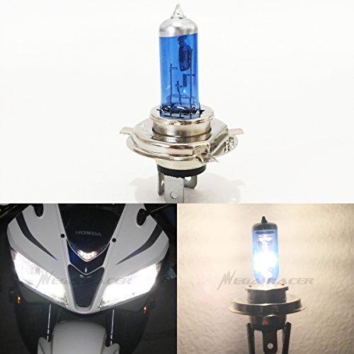 Mega Racer 1Pc H4 9003 HB2 60/55W White 5000K Xenon Halogen Headlight Lamp Light Bulb (High/Low Beam) Stock Replace Motorcycle Bike