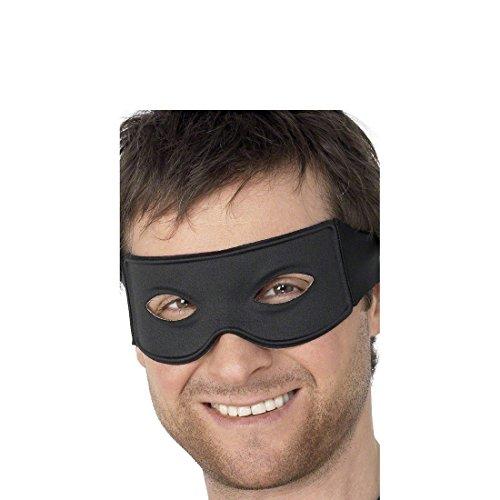 NET TOYS Masque Zorro Noir Masque de Bandit Masque de Zorro Loup Masque de déguisement Bandit Bal masqué