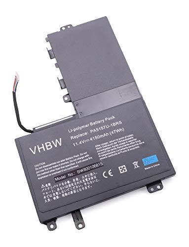 vhbw Batería Recargable reemplaza Toshiba P31PE6-06-N01, PA5157U-1BRS para Notebook (4150 mAh, 11,4 V, Li-Ion)