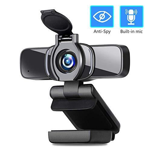 XIA HD 1080P Webcam USB 2.0, PC Web Camera Video Widescreen Microphone Suitable for Computer Laptop Tab Live Streaming Conference