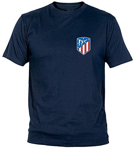 Camiseta Escudo Nuevo Adulto/niño Camisetas del Atleti Colchoneras ATM (XXL, Marino)