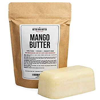 100% Pure Mango Butter - Can Substitute Shea Butter in Soap and Lotion Recipes - Moisturizing Scent-free Hexane-free - 16 oz by Better Shea Butter