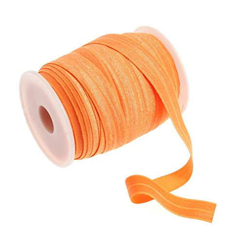 Vouw over elastiek 16mm breed voor luiers Hoofdbanden Tutu & Ambachten 1 Metre Neon Oranje