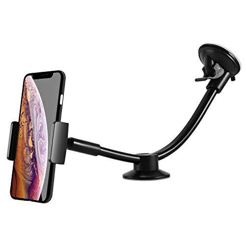 ipow® Universal Auto Handyhalterung Extra Lange Arm KFZ-Halterung Saugnapf Handy Halter für Smartphone wie iPhone Xr X 8 Plus 7 5 6 Samsung Galaxy S9 S8 S7 S6 und Mehr