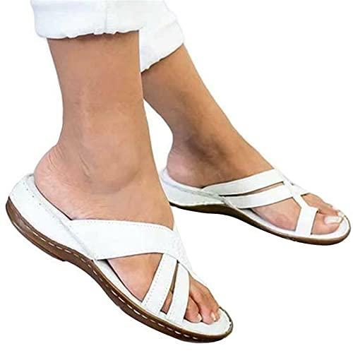Women Orthopedic Slide Ring Toe Sandals Slip On Flip Flop Lady Summer Beach Shoe,Womens Flip Flop