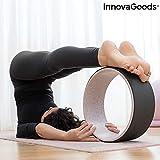 InnovaGoods Rueda de Yoga Rodha, Unisex Adulto, Negro, Ø 33 x 13 cm