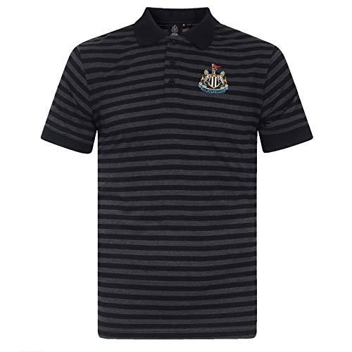 Newcastle United FC - Herren Polo-Shirt mit Streifen - garngefärbt - Offizielles Merchandise - Geschenk für Fußballfans - L