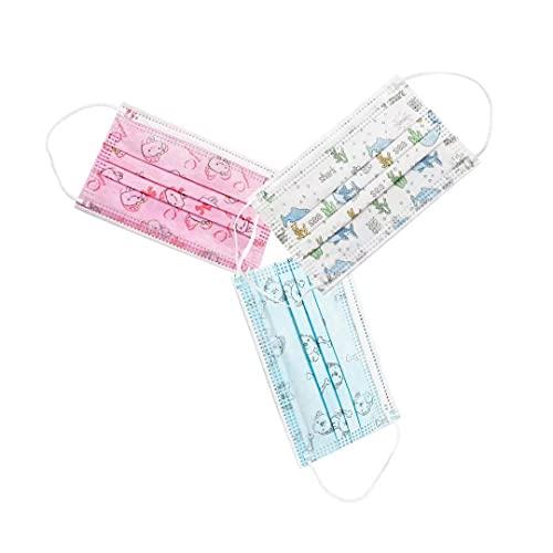 Mascarillas Higiénicas Colores Desechables 3 Capas Niños 30 Unidades C10