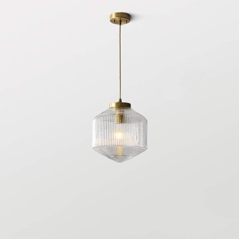 DIAODENG Kronleuchter Decke Lightt Kupfer - MC852 Nordic Wohnzimmer Modernes minimalistisches Schlafzimmer Bedside Creative Bar Cafe Restaurant Glaslampen (Farbe   Transparent)