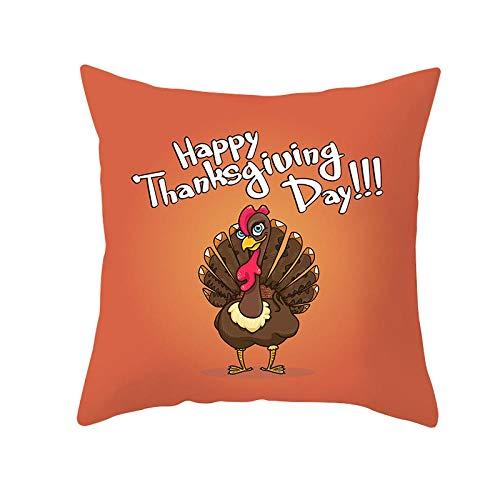 xxLvOG 2Pcs Thanksgiving pillowcase, autumn cartoon small animal sofa pillowcase, peach skin office cushion cover-45 * 45cm (not including pillow core)