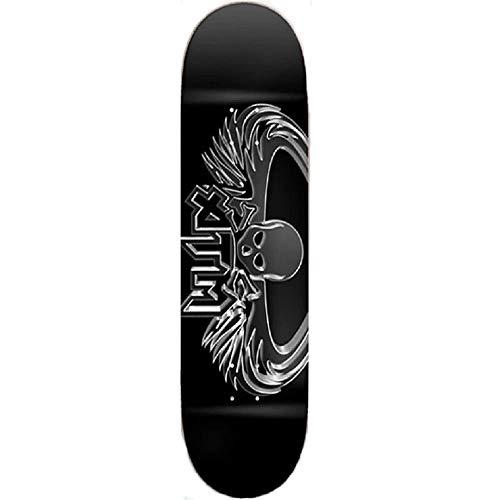 ATM Skateboard-Brett / Deck Click, Metallflügel schwarz, 8.0