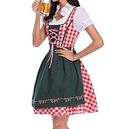 NEEKY Damen Beer Festival KostüMe Damen Bier Festival Kleid Bayerisches Bier Festival Cosplay Kostüme BeerFestivalKostüMe(XL,Grün)