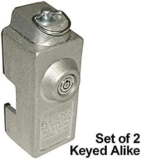 Blaylock DL-80 Cargo Trailer Door Lock - 2-Pack of Keyed Alike Locks