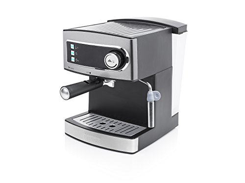 Princess 01.249407.01.001 espressomachine 15 bar - 1,6 L waterreservoir, 850 W, grijs