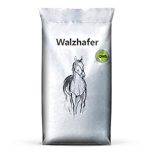 Eggersmann Walzhafer – Einzelfuttermittel für Pferde – Gut verdauliches Getreide mit hohem Spelzenanteil – 15 kg Sack
