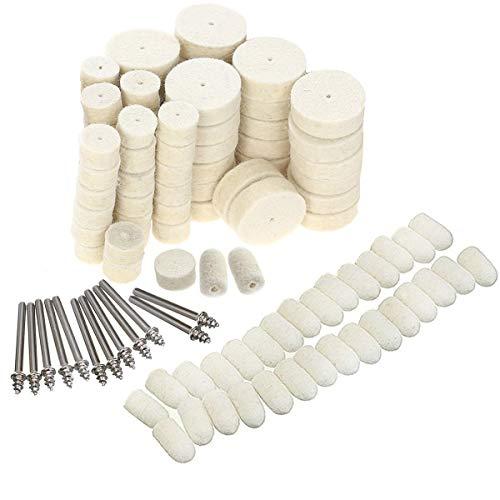 Polishing Buffing Wheel for Dremel Polishing Kit,Point & Mandrel Kit,Dremel Rotary Tools - Accessories Kit Fit Dremel - 1/8 Inch Shank(111Pcs)