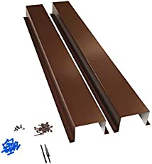 EAGLE 1 Metal Line Set Cover Kit for Mini Split and Central Air Conditioner & Heat Pump (Brown)