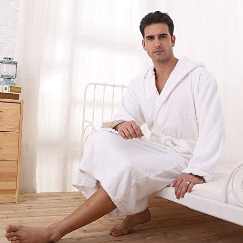 KTUCN Bademantel aus Baumwolle mit Kapuze, Plus Size XL Pyjama, Herren Damen Handtuch...