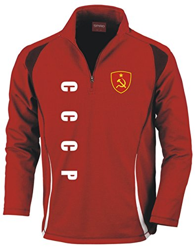 Aprom-Sports CCCP UDSSR Russland Trainingstop - Fussball Sport - Rot (L)
