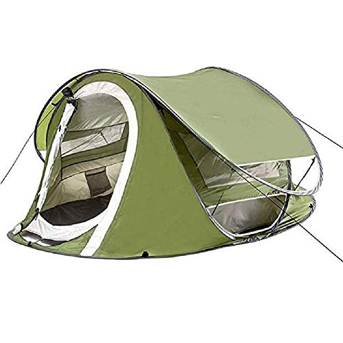 JUNYYANG Automatic Quick Open Lazy Tent Double Door Por Table Screen Window Sun Protection and Waterproof 240 * 160 * 180cm