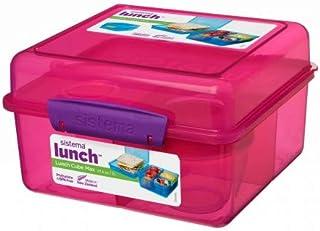 Sistema Lunch Cube Max With Yogurt 2L Pink