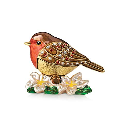The Bradford Exchange 'Messenger Of Love' Gold-Plated Ornament – A unique robin-inspired ornament with lustrous 22-carat gold-plating and a Swarovski jewel. Exclusive to
