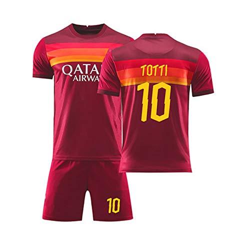 YANDDN Saison 2021 Roma Totti Nr. 10 Trikot Fußballuniform Anzug Training Match Team Uniform kaufen benutzerdefinierte Erwachsene Kindertrikot-red10-20