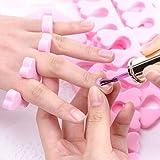 OhhGo 50 separadores de dedos de espuma suave, separadores de dedos, separadores de dedos, manicura, pedicura