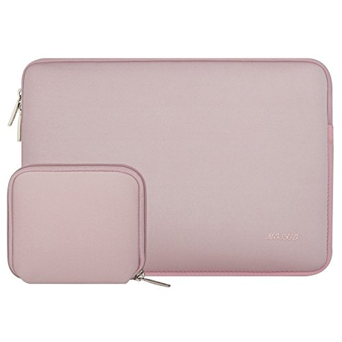 MOSISO Wasserabweisend Neopren Hülle Sleeve Tasche Kompatibel mit 13-13,3 Zoll MacBook Pro, MacBook Air, Notebook Computer Laptophülle Laptoptasche Notebooktasche mit Kleinen Fall, Baby Rosa