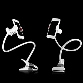 Importer520 Hands Free mobile phone mount for Bed, Car, Desk, Chair with mounting clip - Universal Flexible Long Arms Mobi...