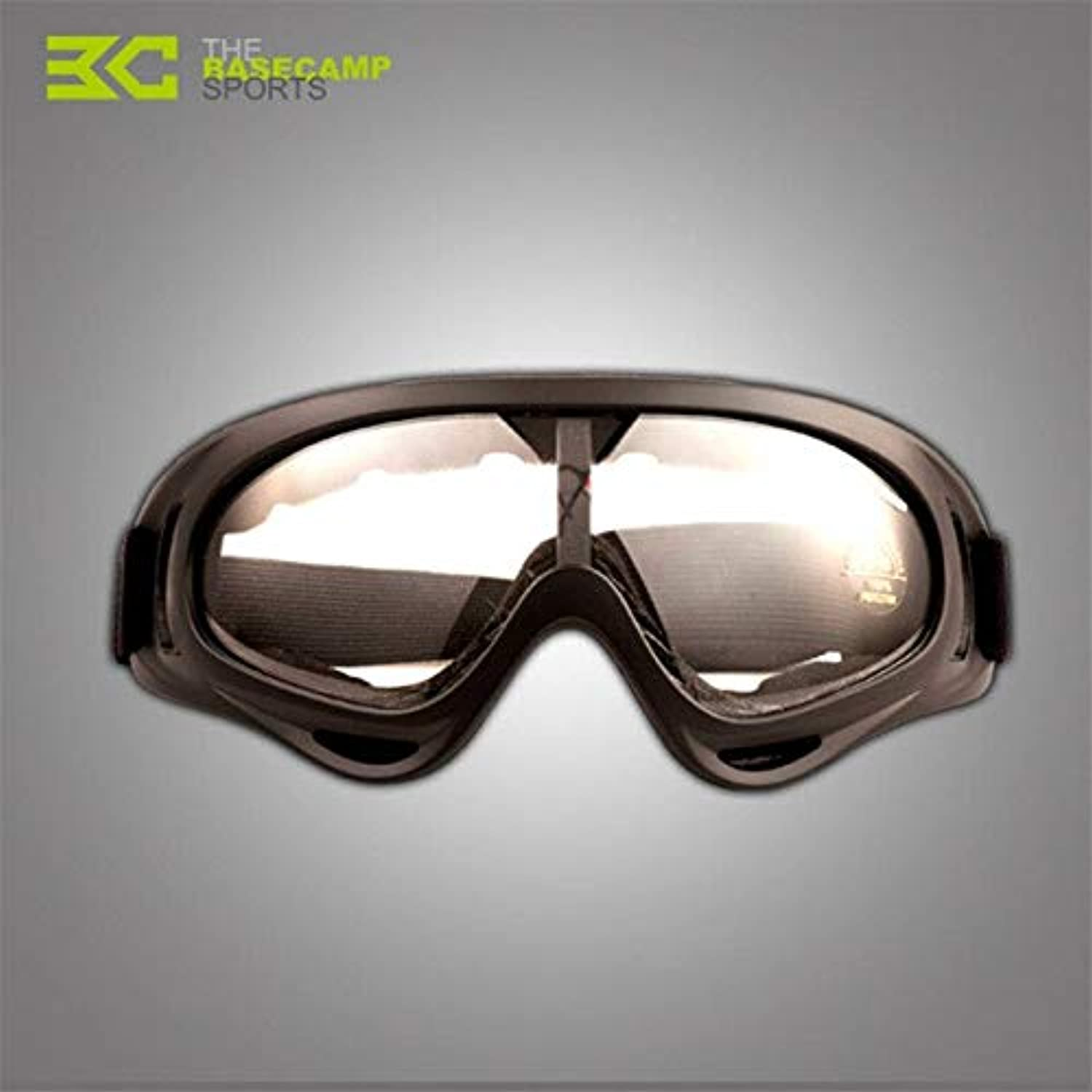 Clear   Basecamp Men's Women's Cycling Glasses UV400 Outdoor Sports Windproof Eyewear Mountain Bike Bicycle Motorcycle Goggle Sunglasses