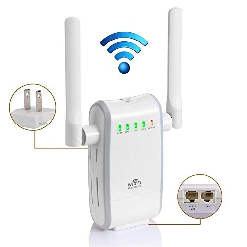 300Mbps Wireless Router /Extensor Enrutador Inalámbrico de Red /WiFi Mini Wireless Extensor de Rango AP Amplificador /Full Coverage Route Repetidor Booster Wireless-N 2.4GHz Universal EU Enchufe WPS