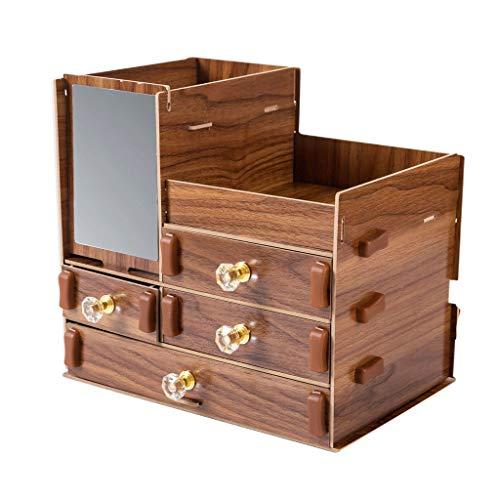 Kosmetikkoffer, Aufbewahrungsbox, Kompressionsplatte, Schreibtisch, großes Fassungsvermögen, transparent