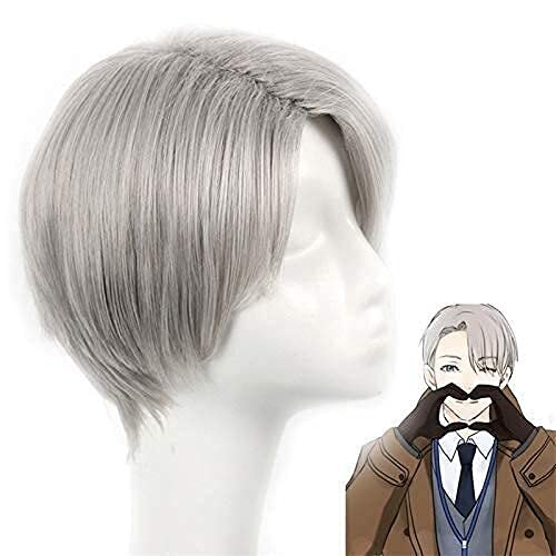 FXBFAG Anime Cosplay Yuri !!!En Ice Viktor Nikiforov Wig Victor Nikiforov Cosplay Pelucas para Adultos Halloween Anime Game Hair