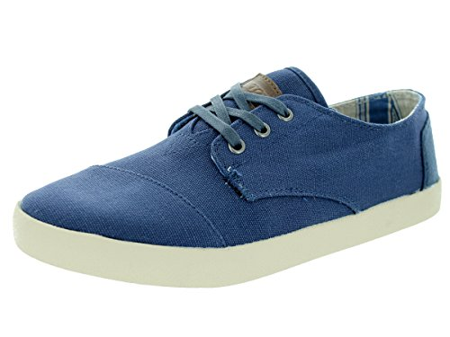 TOMS Mens Paseos Sneaker Navy Canvas Size 7