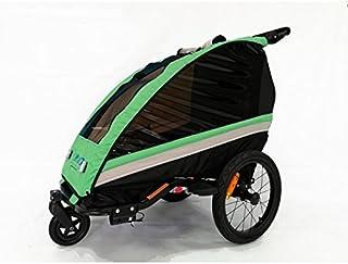 comprar comparacion RBO Remolque de Bicicleta para niños One, monoplaza, Plegado rapido, antivuelvo, Manillar Regulable, Rueda 360, Frenos Ind...
