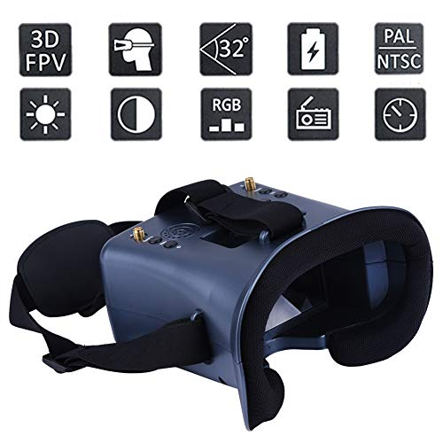 Find Bargain BeesClover LS-008D 5.8G FPV Googles VR Glasses 40CH with 2000mA Battery DVR Diversity f...