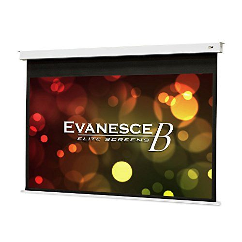 """Elite Screens Evanesce B, 120"""" 16:9, Recessed In-Ceiling Electric Projector Screen with Installation Kit, 8k/4K Ultra HD Ready Matte White Fiberglass Reinforced Projection Surface, EB120HW2-E8"""