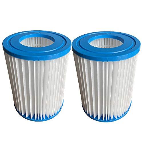 WYWZDQ Flowclear Filterkartuschen für Bestway Filterpatrone II, Filter Kartuschen für Pool Swimmingpool Pumpen Typ II, Größe 10,4 x 13,5 cm. (2 STK)