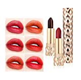 CreazyBee The Temptation of The Angels Magic Lipstick, a Six Color Double Tube Moistening Waterproof Not Easy to Take Off The Lip Balm,Diamonds & Ice Butter Gloss,All Day Seduction,Lip Gloss