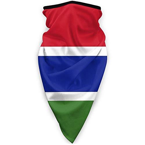 ONLED Mscara de Gambia a prueba de viento, bandana, mscara de cara, polaina, pasamontaas, negro y negro