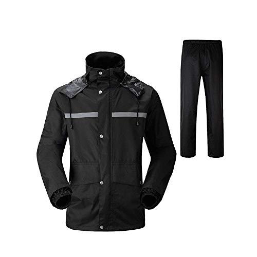 Guyuan Impermeable Pantalones de Lluvia Conjunto de Doble Capa de Adultos y...