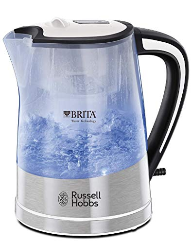 Russell Hobbs 22851 Plastic Brita Filter Purity Kettle, 3000 W, 1 Litre, Transparent by Russell Hobbs